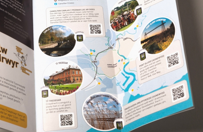 Newport Explorer Leaflet Welsh