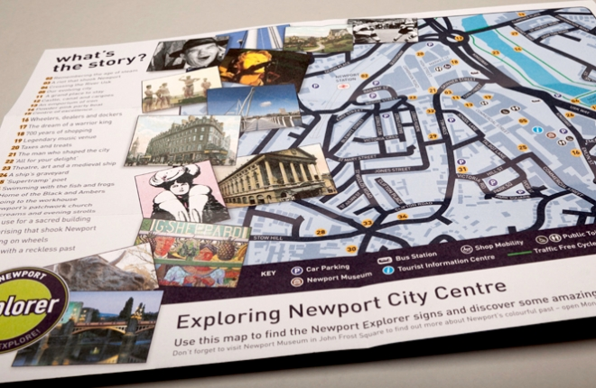 Newport Explorer Leaflet - english map